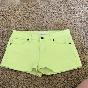 Forever 21 Neon yellow summer shorts size XS